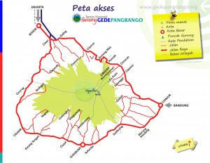 Peta Wisata Gunung Gede Pangrango