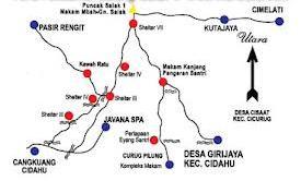 Peta Wisata Gunung Salak