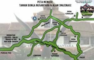 Peta Taman Bunga Nusantara
